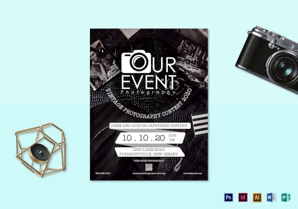 vintage photography event flyer