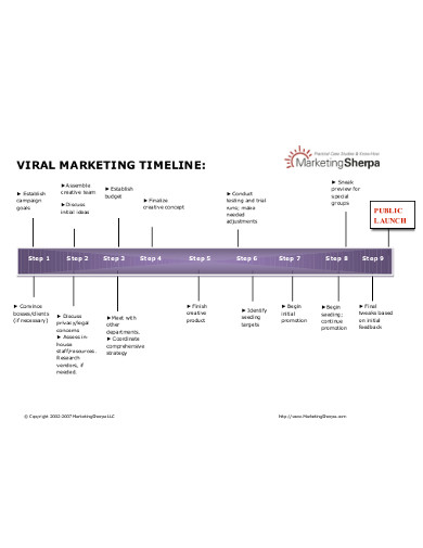 viral marketing timeline