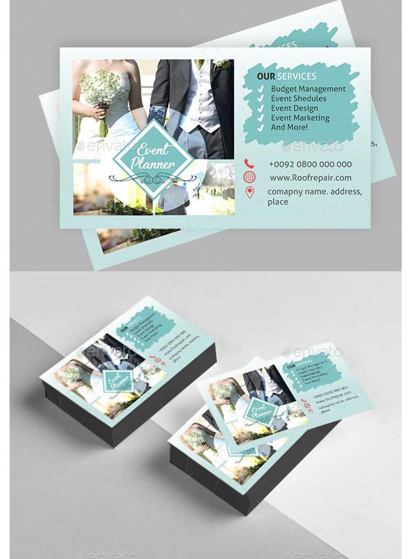 wedding event business card