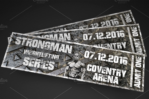 weight lifting event ticket