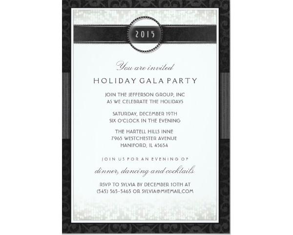 white company event invitation