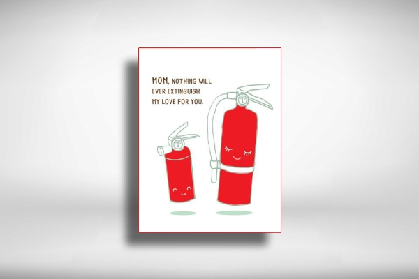 witty mothers day greeting card