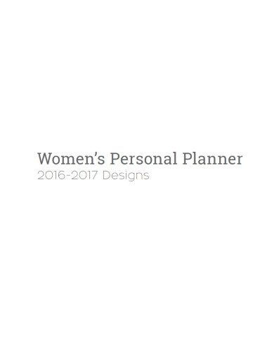 women's personal planner