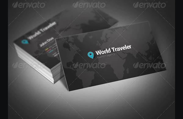 world travel business card