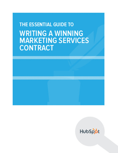 writing marketing services contract