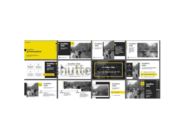 yellow marketing presentation