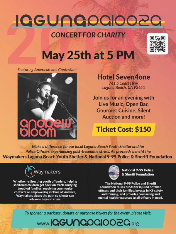 beach concert for charity flyer