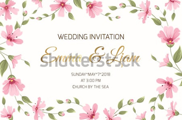 marriage event invitation card