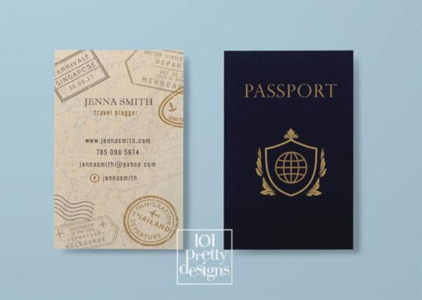 printeble travel business card