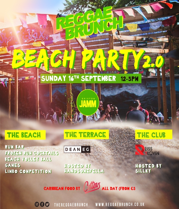 reggae brunch beach party
