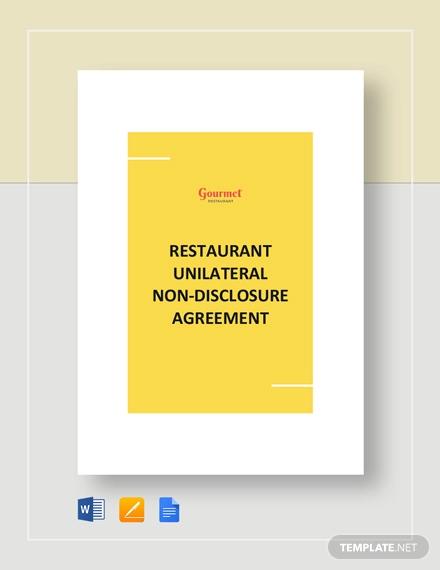 restaurant unilateral