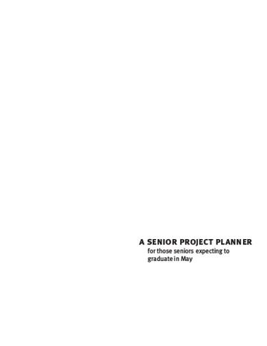 senior project planner