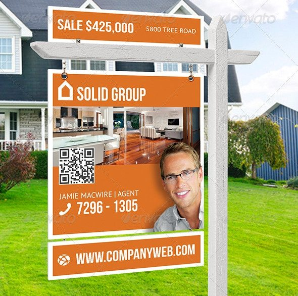 free 15  best real estate signs examples  u0026 templates