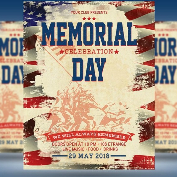 FREE 12+ Best Memorial Day Poster Examples & Templates