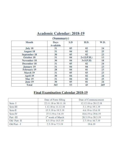 academic collage calendar templates