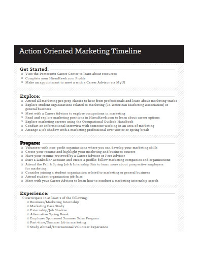 action oriented marketing timeline1