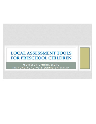assessment tools for preschool children
