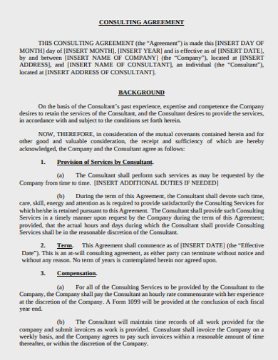 basic consulting agreement template