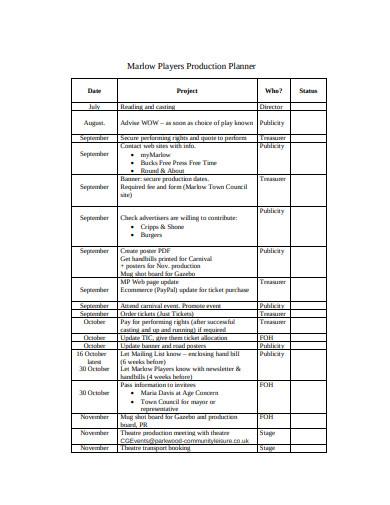 basic production planner