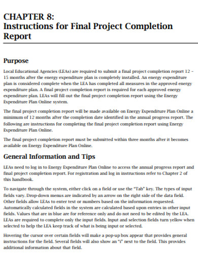 basic project final report example