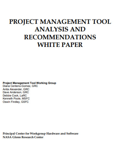 basic project managment analysis