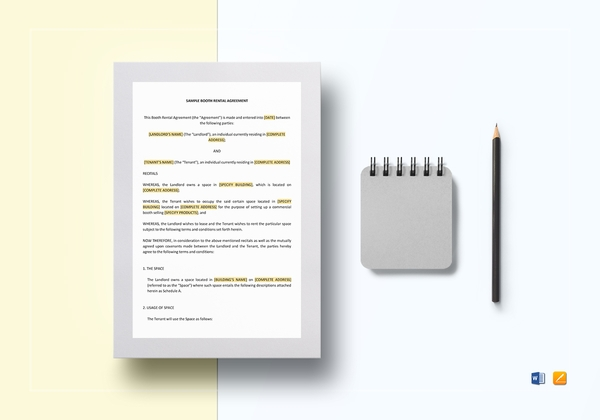 booth rental lease agreement