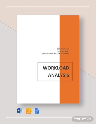 brief workload analysis template
