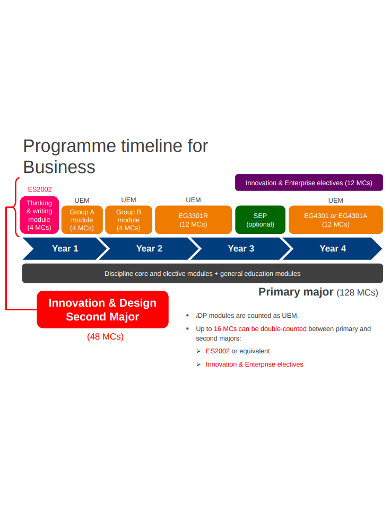 business programe timeline example