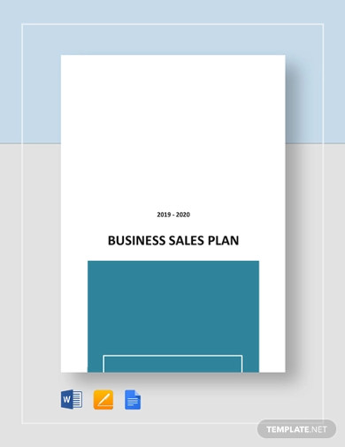 business sales plan template
