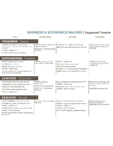 business timeline in pdf