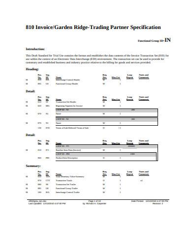 carpenter invoice example