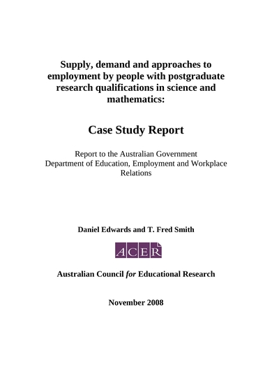 case study report in official government format