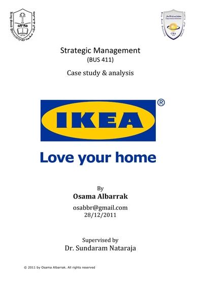 case study and analysis for strategic management