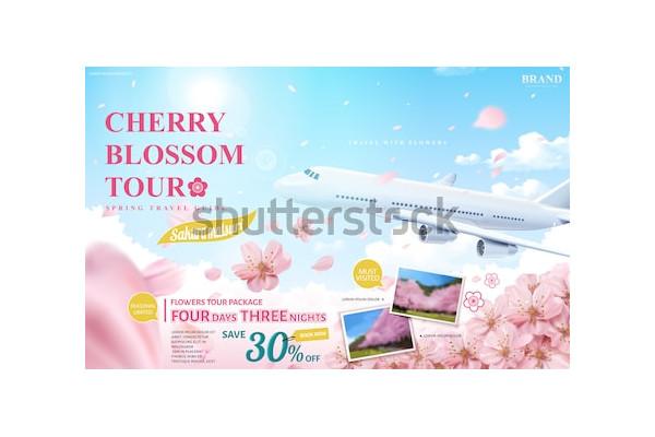 cherry blossom tour travel ads