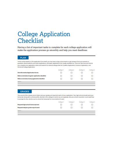 college application checklist example1