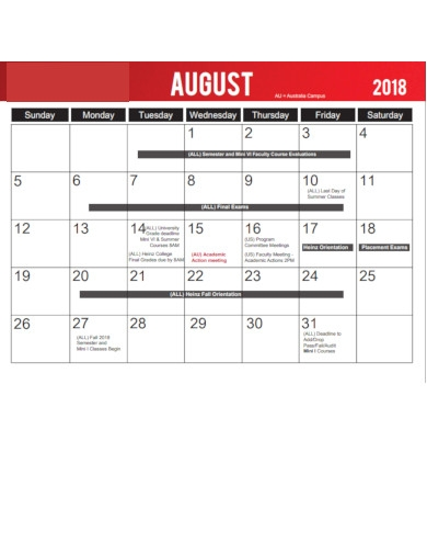 college calendar with holidays list
