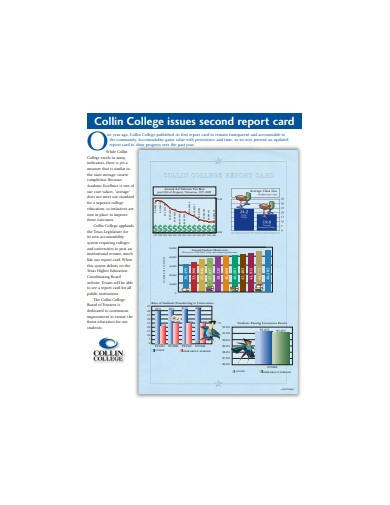 college issues report card