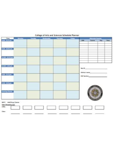 college schedual planner