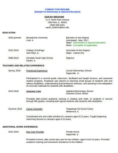 college student resume in pdf