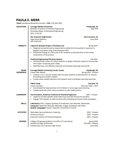 Free 5 College Graduate Resume Examples Templates Pdf Examples