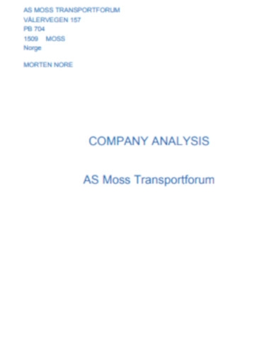 company analysis in pdf
