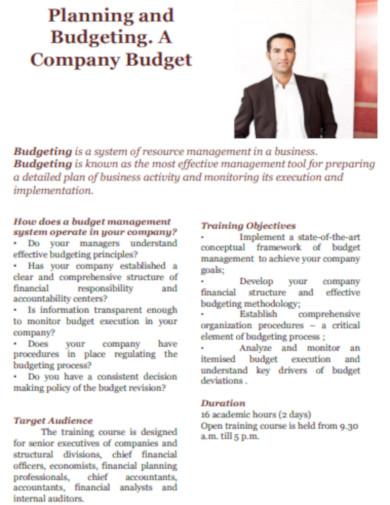 company budget simple