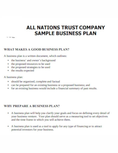 company business plan example