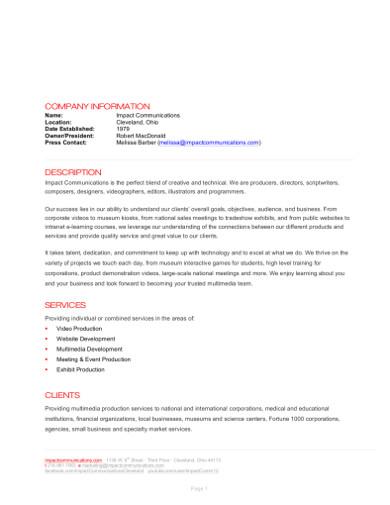 company information description