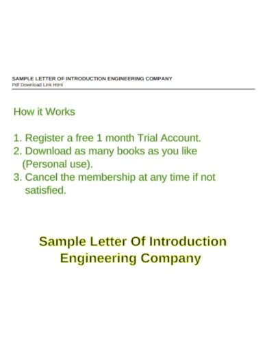 company introduction letter example