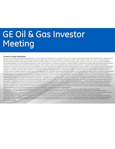 company investor meeting powerpoint