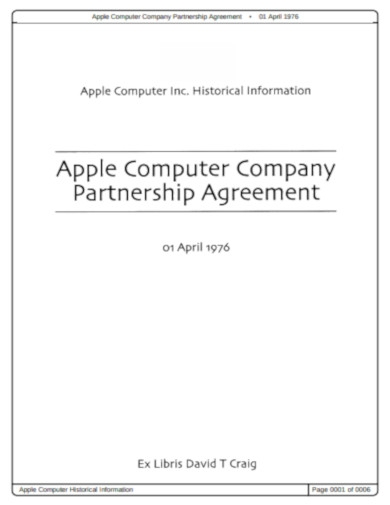 company partnership agreement