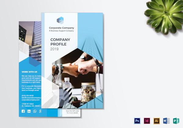 company profile bi fold brochure 1