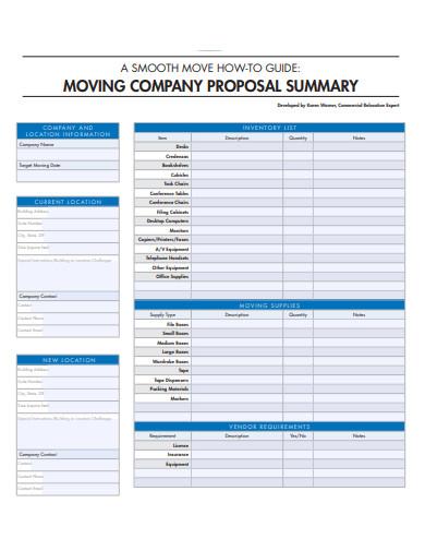 company proposal summary