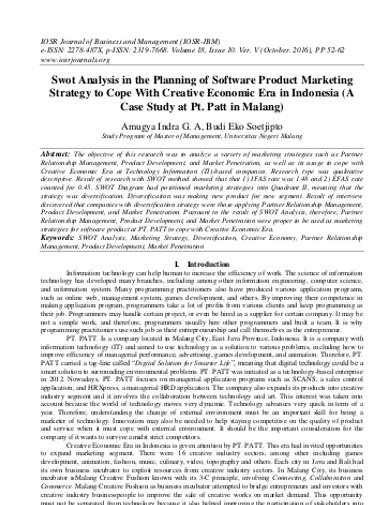 company swot analysis example